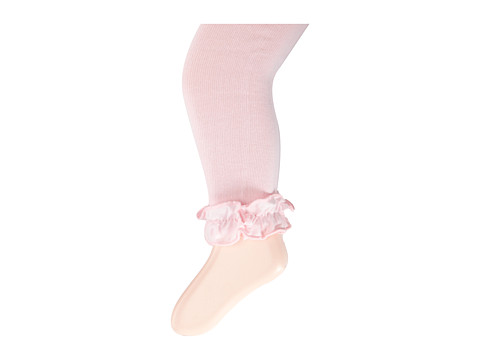 Jefferies Socks - Pima Cotton Ruffle Footless Tights 2-Pack (Infant/Toddler/Little Kid/Big Kid) (Pink) Hose