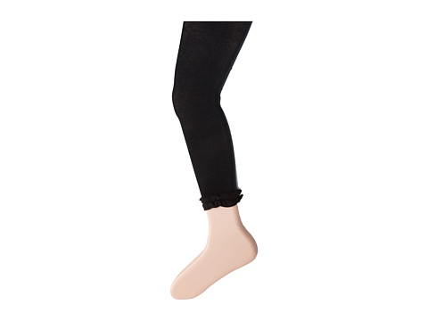 Jefferies Socks - Pima Cotton Ruffle Footless Tights 2-Pack (Infant/Toddler/Little Kid/Big Kid) (Black) Hose