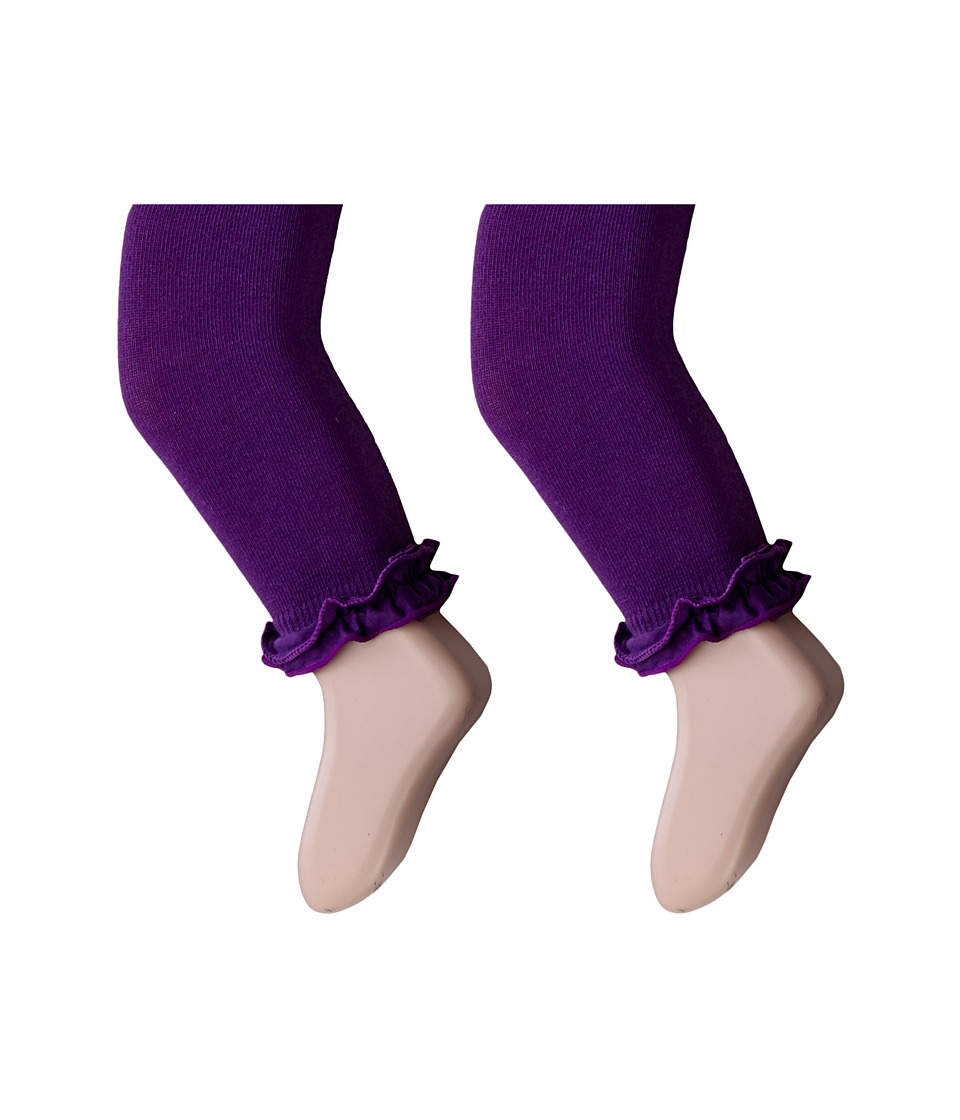 Jefferies Socks - Pima Cotton Ruffle Footless Tights 2-Pack (Infant/Toddler/Little Kid/Big Kid) (Purple) Hose
