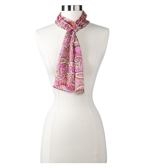 Echo Design - Arabian Market Paisley Scarf (Hot Pink) Scarves