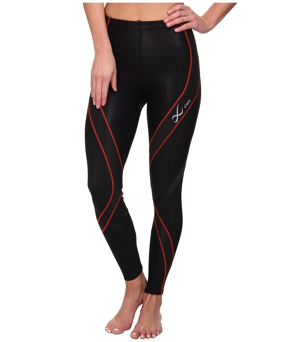 CW-X - Insulator Endurance Pro Tights (Black/Orange) Women's Workout