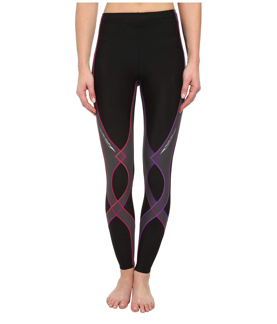 CW-X - Insulator Stabilyx Tights (Black/Purple Gradient) Women's Workout
