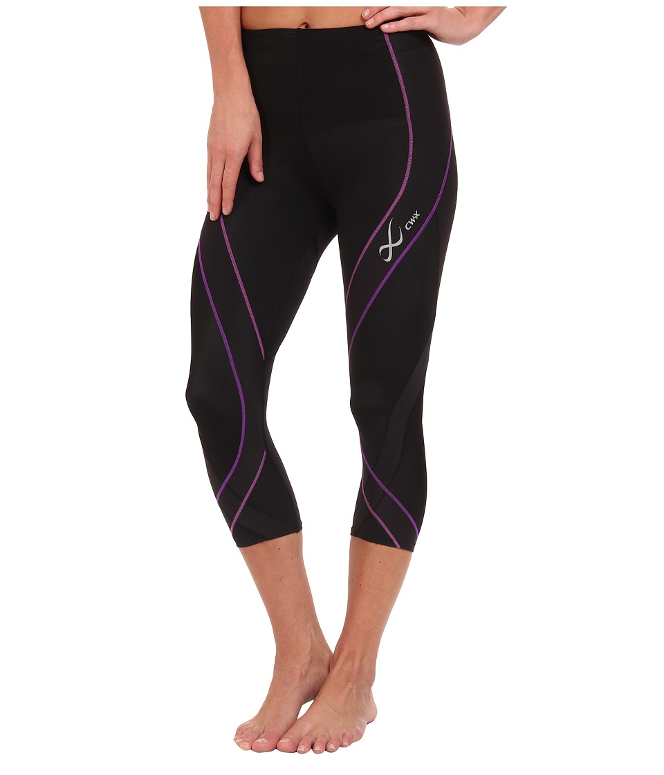 CW-X - Pro 3/4 Tight (Black/Light Purple/Purple) Women's Workout