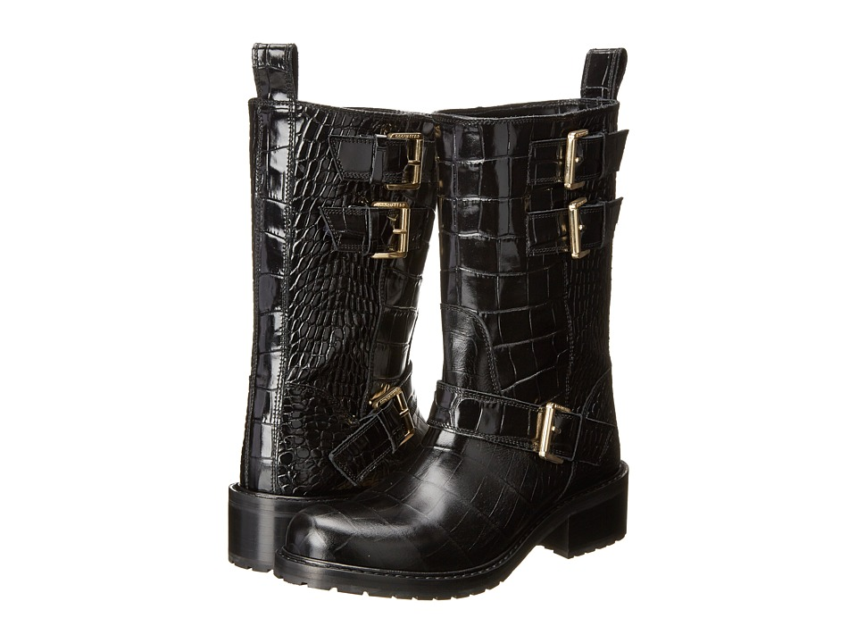 DSQUARED2 - ST Cocco Flat Boot (Nero) Women's Pull-on Boots
