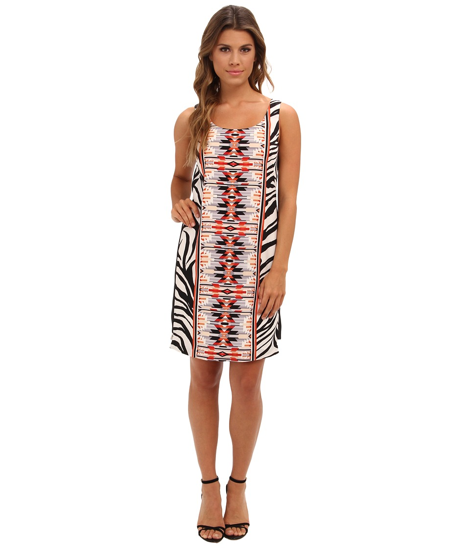 Vince Camuto - Sleeveless Printed Tank Shift Dress (Mambo) Women's Dress