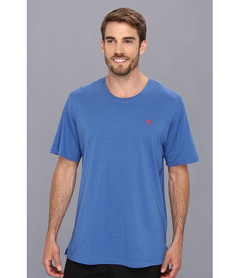 Tommy Bahama - Cotton Modal Knit S/S Tee (Cobalt/Cobalt/Academy) Men