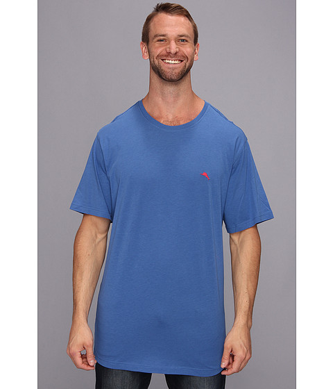 Tommy Bahama - Big Tall Cotton Modal Knit S/S Tee (Cobalt/Cobalt/Academy) Men