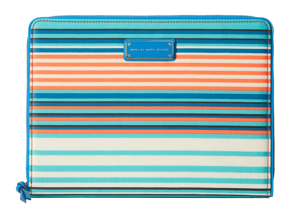Marc by Marc Jacobs - Coated Canvas Paradise Print Tablet Book (Aqua Lagoon Multi) Computer Bags