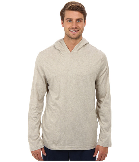 Tommy Bahama - Heathered Pullover Hoodie (Nathe) Men's Long Sleeve Pullover