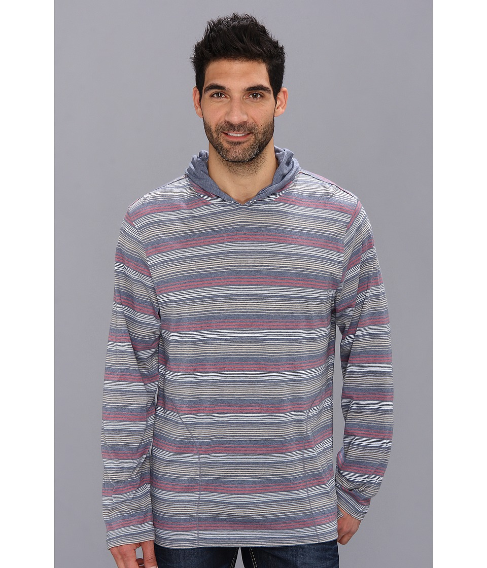 Tommy Bahama Heathered Pullover Hoodie Mens Long Sleeve Pullover (Black)