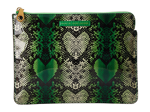 Marc by Marc Jacobs - Snake Heart Techno Tablet Zip Case (Fresh Grass Multi) Computer Bags
