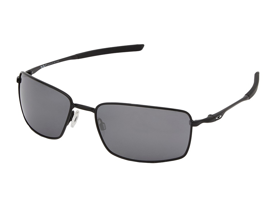 Oakley - Square Wire (Pol Black w/ Black Iridium) Sport Sunglasses