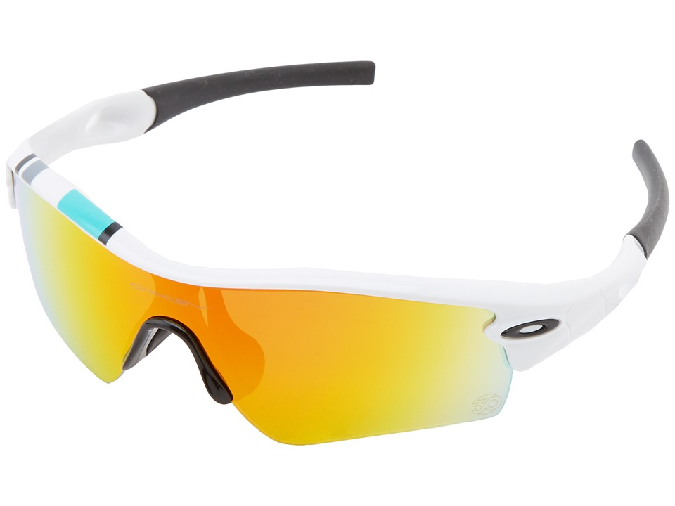 Oakley - Radar (Path Polished White w/ Fire Iridium) Sport Sunglasses