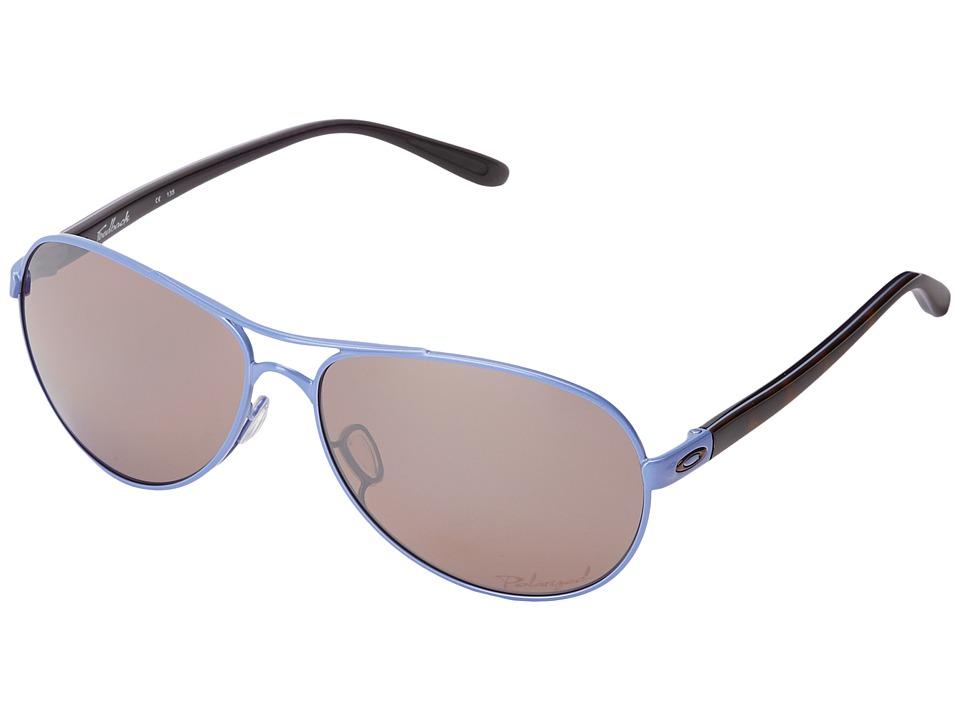 Oakley - Feedback (Wisteria Pearl w/ OO Black Irid Polarized) Sport Sunglasses