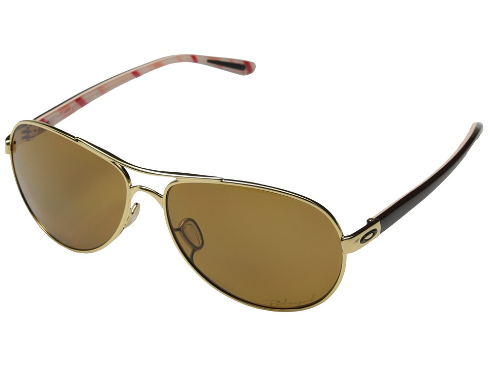 Oakley - Feedback (Polished Gold w/ Bronze Polarized) Sport Sunglasses