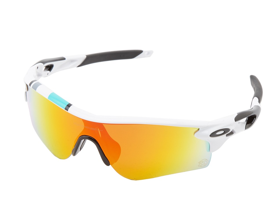 Oakley - Radarlock Path (Pol White w/ Fire Irid/Black Iridium) Sport Sunglasses