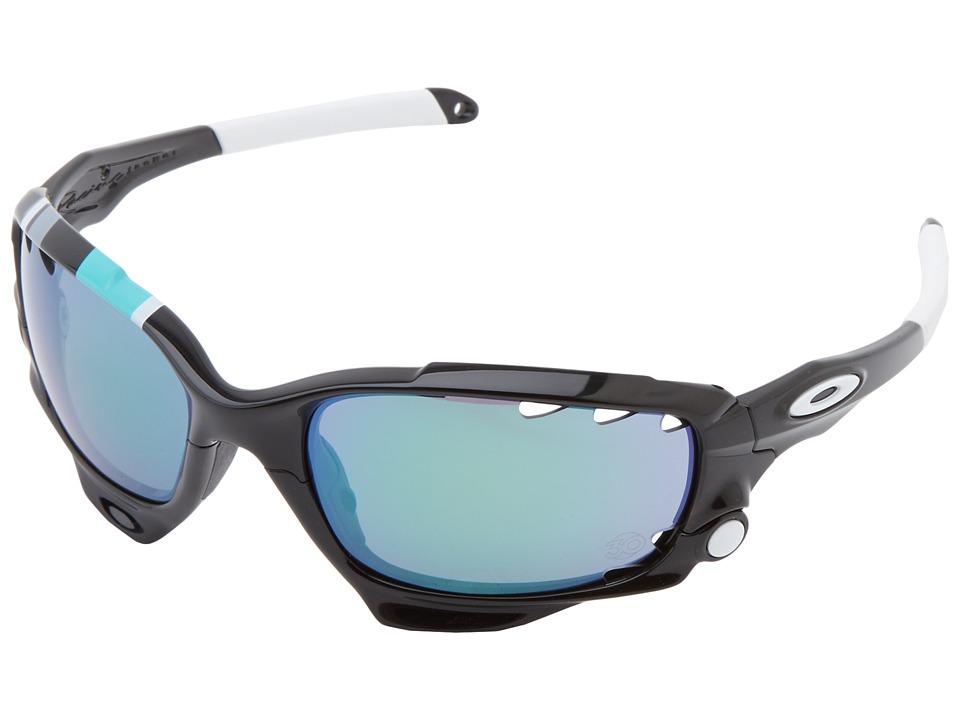 Oakley - Racing Jacket (Pol Black w/ Jade Ird Vt/Black Ird Vt) Sport Sunglasses