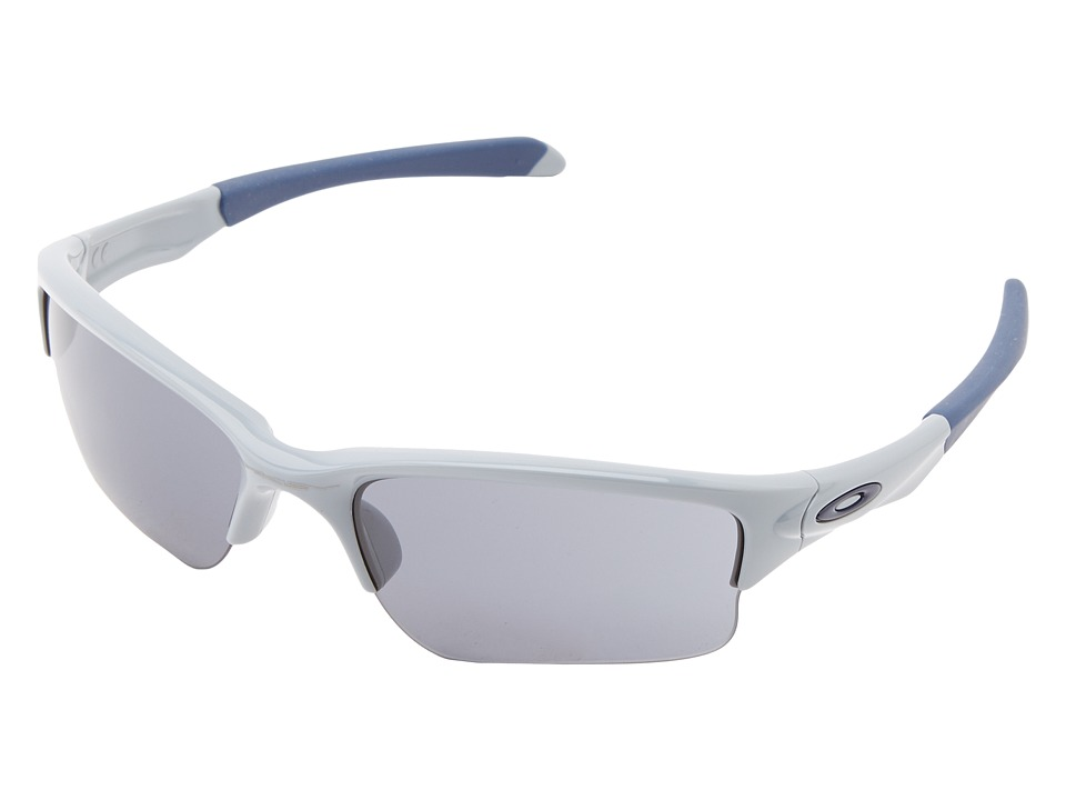 Oakley - Quarter Jacket (Youth) (Polished Fog w/ Grey) Sport Sunglasses