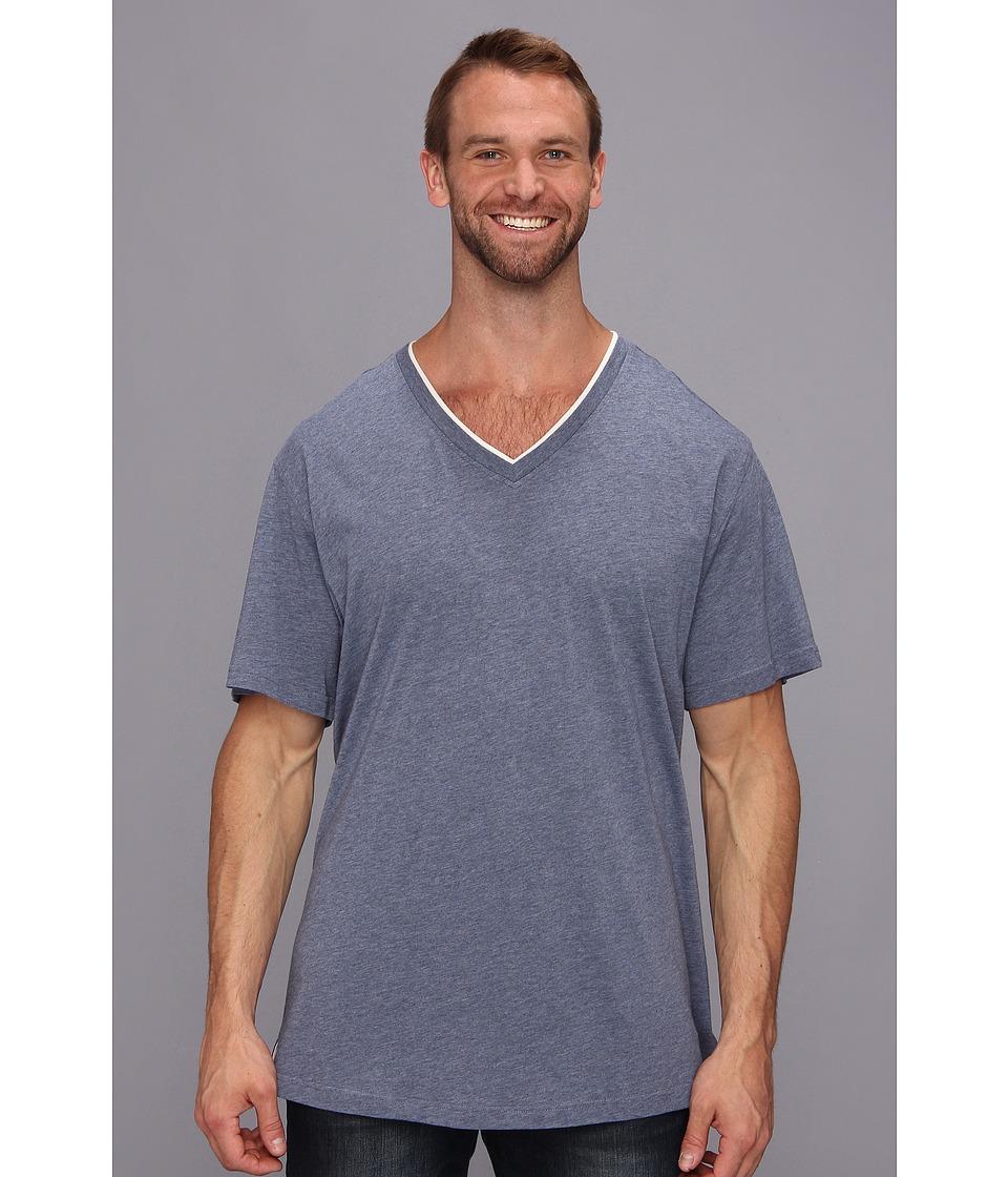 Tommy Bahama Big Tall Heather Cotton Modal Jersey Tee Mens T Shirt (Blue)