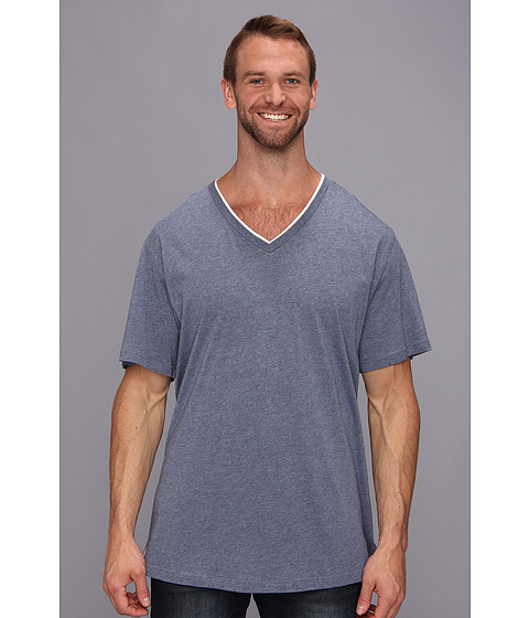 Tommy Bahama - Big Tall Heather Cotton Modal Jersey Tee (Blue Denim) Men's T Shirt