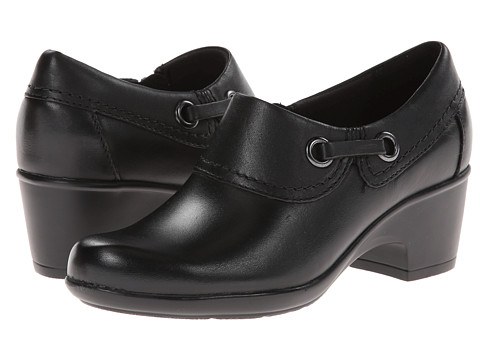 Clarks - Genette Danby (Black Leather) Women's Shoes