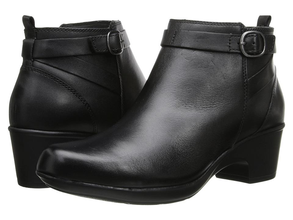 Clarks Malia Hawthorn (Black Leather) Women
