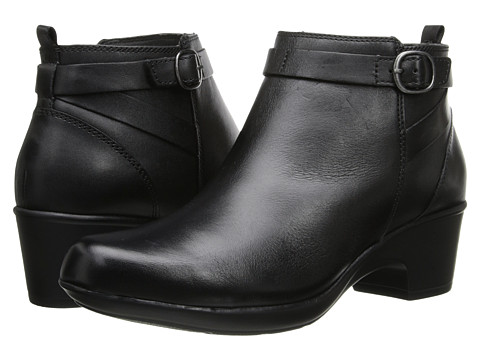 Clarks - Malia Hawthorn (Black Leather) Women