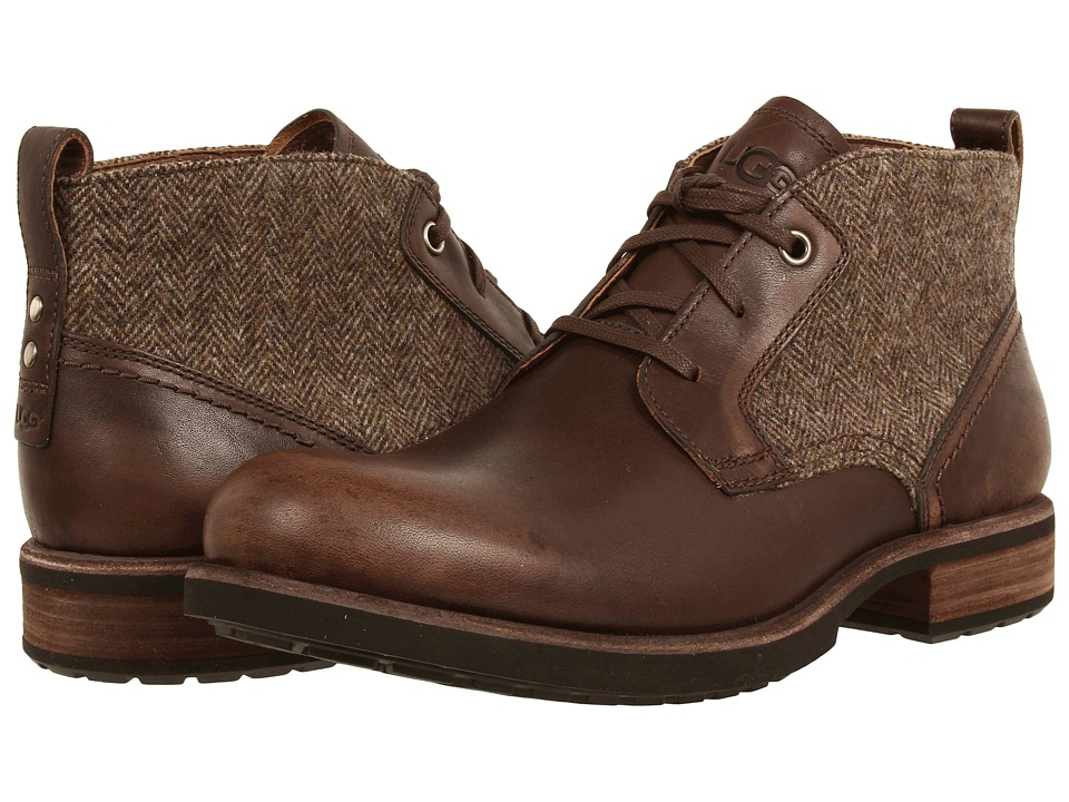 UGG - Brompton Tweed (Grizzly Leather) Men's Shoes