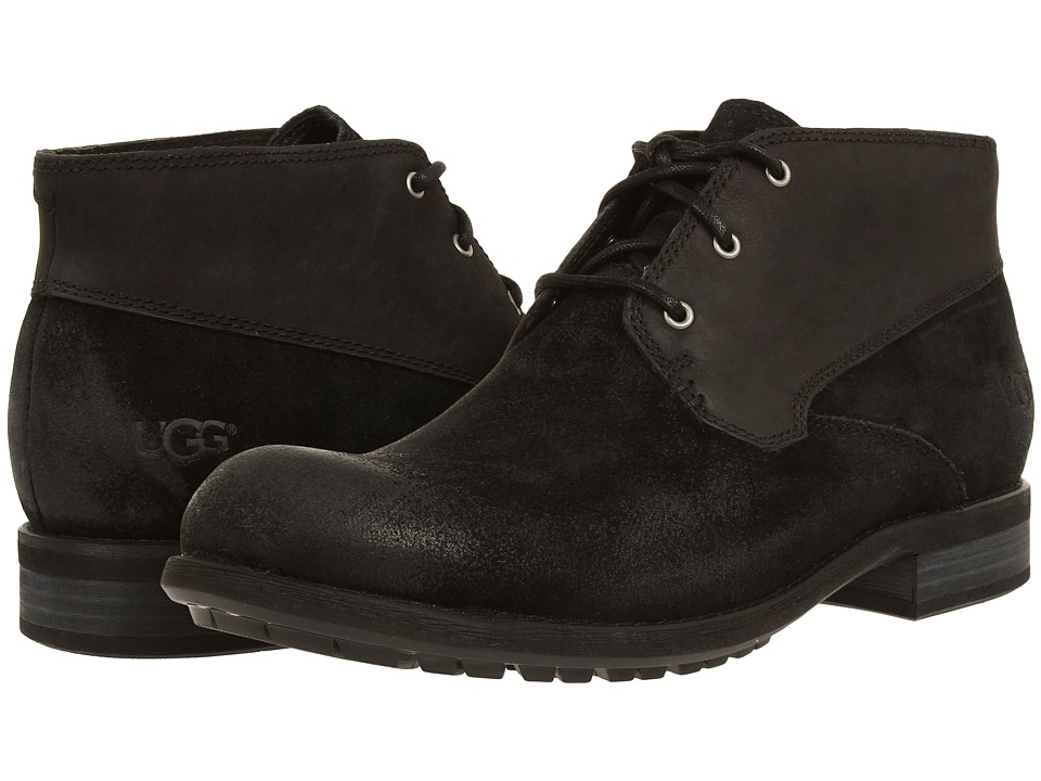 UGG - Worthing (Black Suede) Men's Shoes