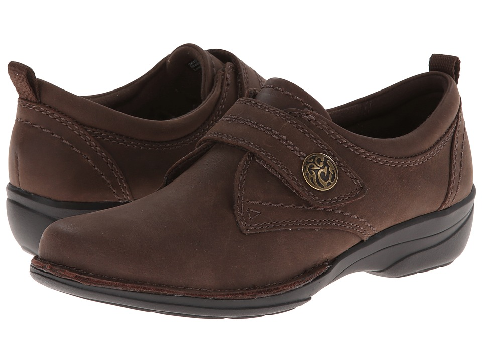 Clarks - Gaberly Panama (Brown Oily Leather) Women's Shoes