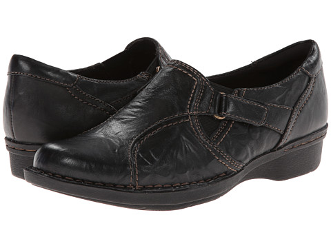 Clarks - Whistle Wheat (Black Leather) Women's Shoes