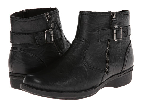 Clarks - Whistle Oat (Black Leather) Women's Boots