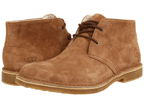 UGG - Leighton (Chestnut Suede) Men's Dress Lace-up Boots