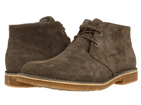 UGG - Leighton (Charcoal Suede) Men's Dress Lace-up Boots