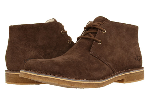 UGG - Leighton (Espresso Suede) Men's Dress Lace-up Boots