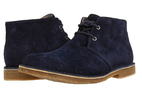UGG - Leighton (New Navy Suede) Men's Dress Lace-up Boots
