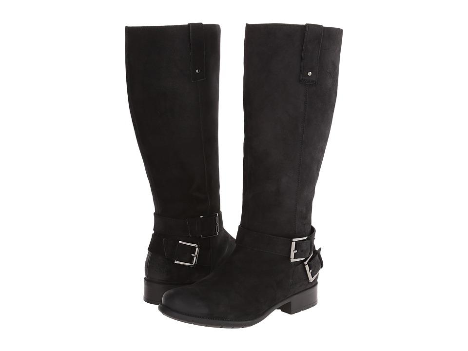 Clarks - Plaza Steer - Wide Shaft (Black Leather) Women
