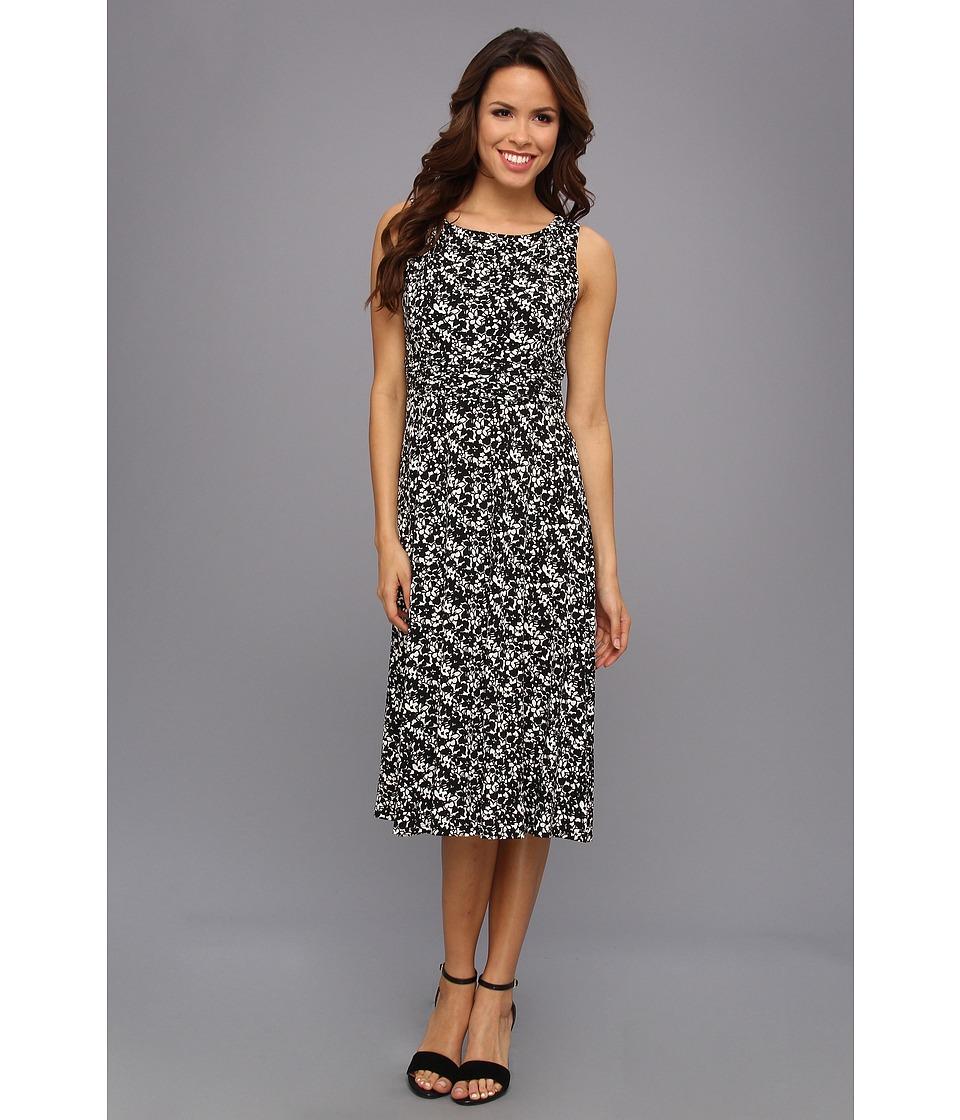 Jessica Howard Sleeveless Ruched Waist Dress Womens Dress (Black)