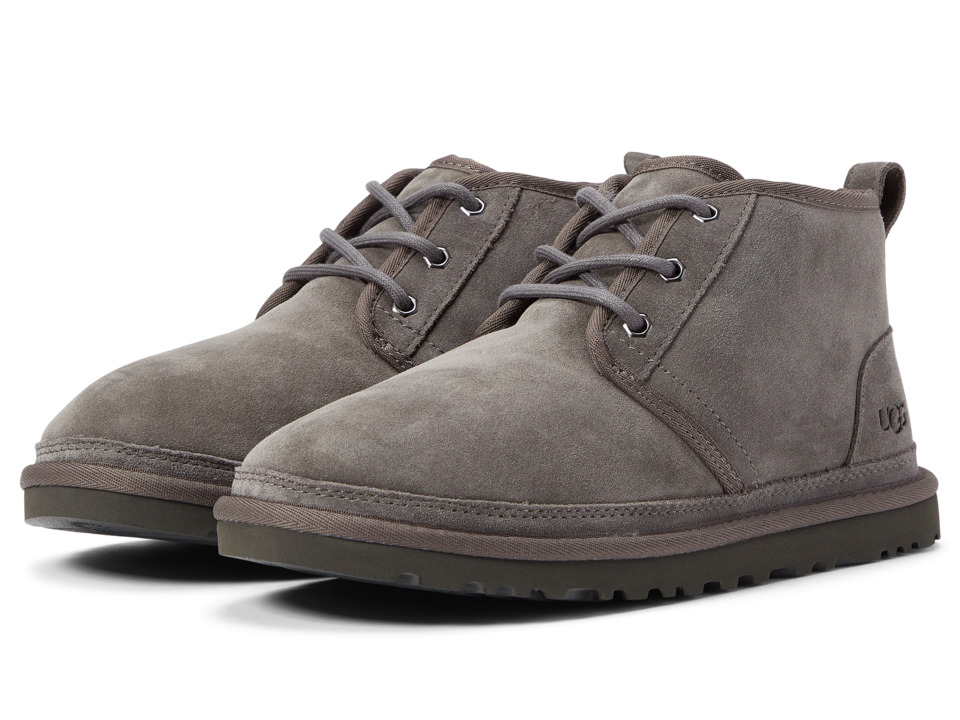 UGG - Neumel (Charcoal Suede) Men's Lace up casual Shoes