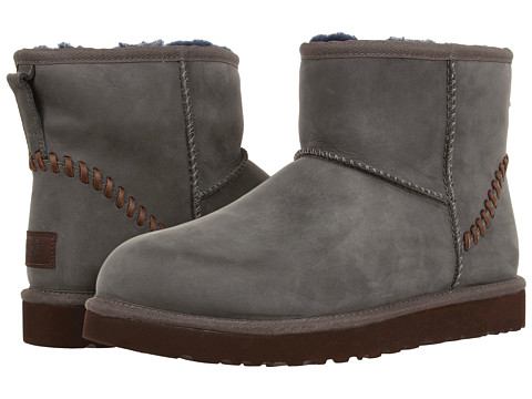 UGG - Classic Mini Deco (New Navy Leather) Men's Boots