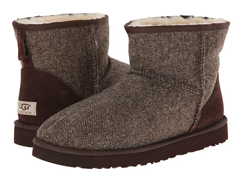 UGG - Classic Mini Tweed (Stout Wool) Men's Pull-on Boots