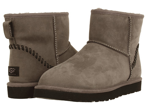 UGG - Classic Mini Deco (Metal Leather) Men's Pull-on Boots