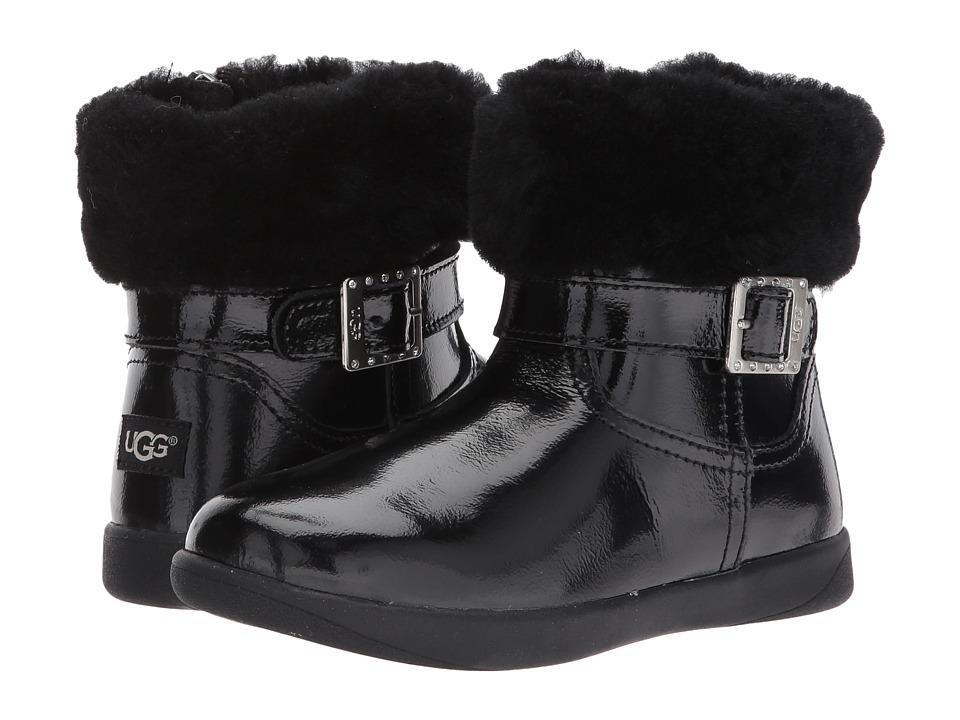 UGG Kids Gemma (Toddler/Little Kid) (Black) Girls Shoes