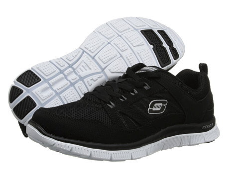 SKECHERS - Spring Fever (Black/White) Women's Lace up casual Shoes