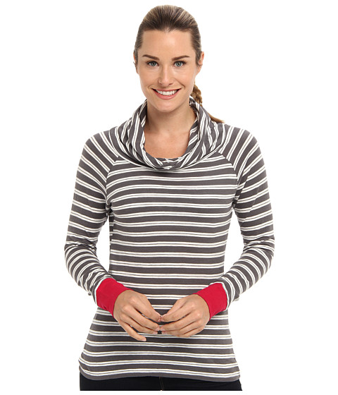 Toad&Co - Stripe Out Boat Twist Tee (Dark Smoke Stripe/Lipstick) Women