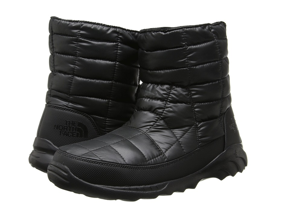 The North Face - ThermoBall Bootie II (Shiny TNF Black/TNF Black) Men's Shoes