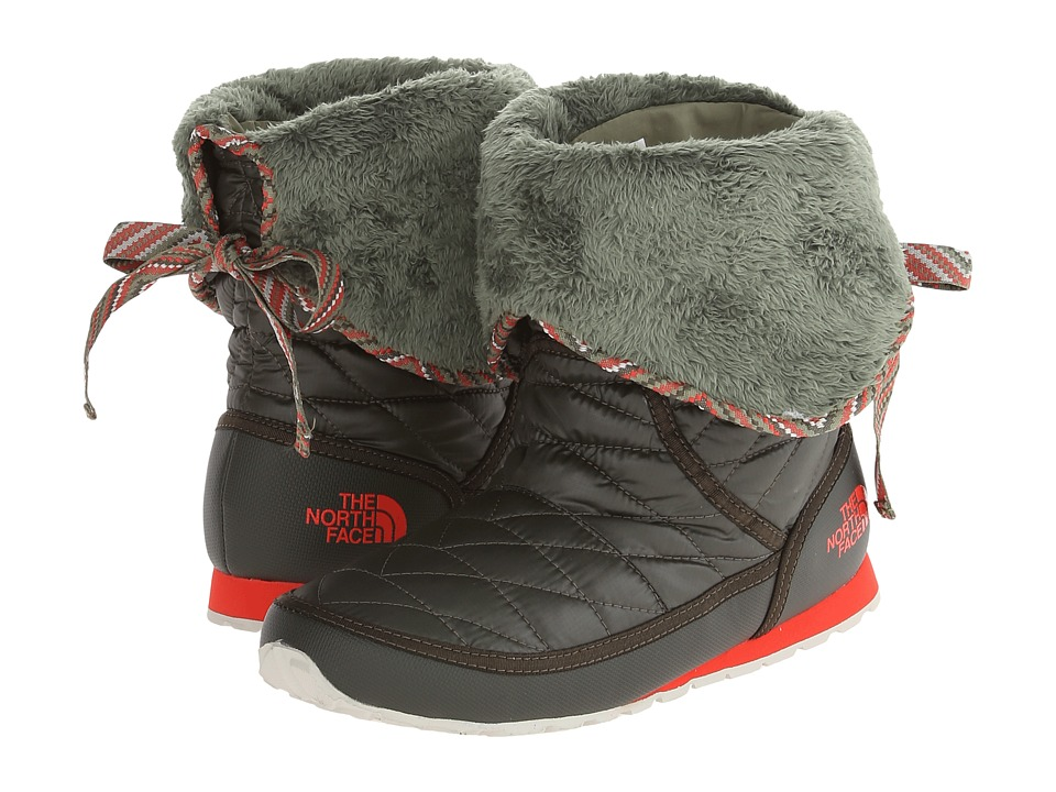 The North Face - ThermoBall Roll-Down Bootie II (Shiny Forest Night Green/Grecian Green) Women