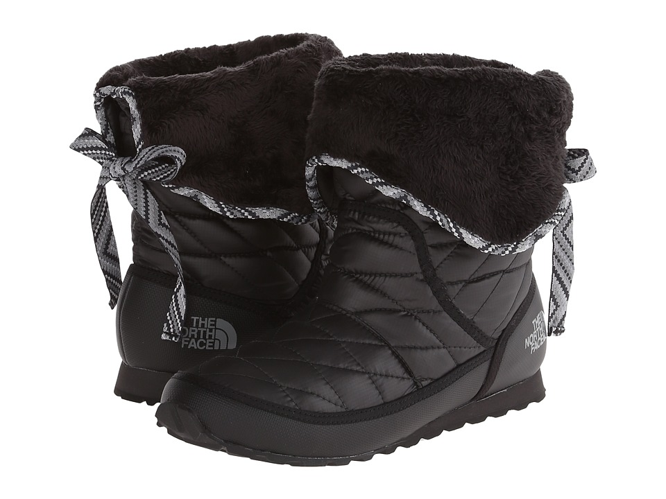 The North Face - ThermoBall Roll-Down Bootie II (Shiny TNF Black/TNF Black) Women's Boots