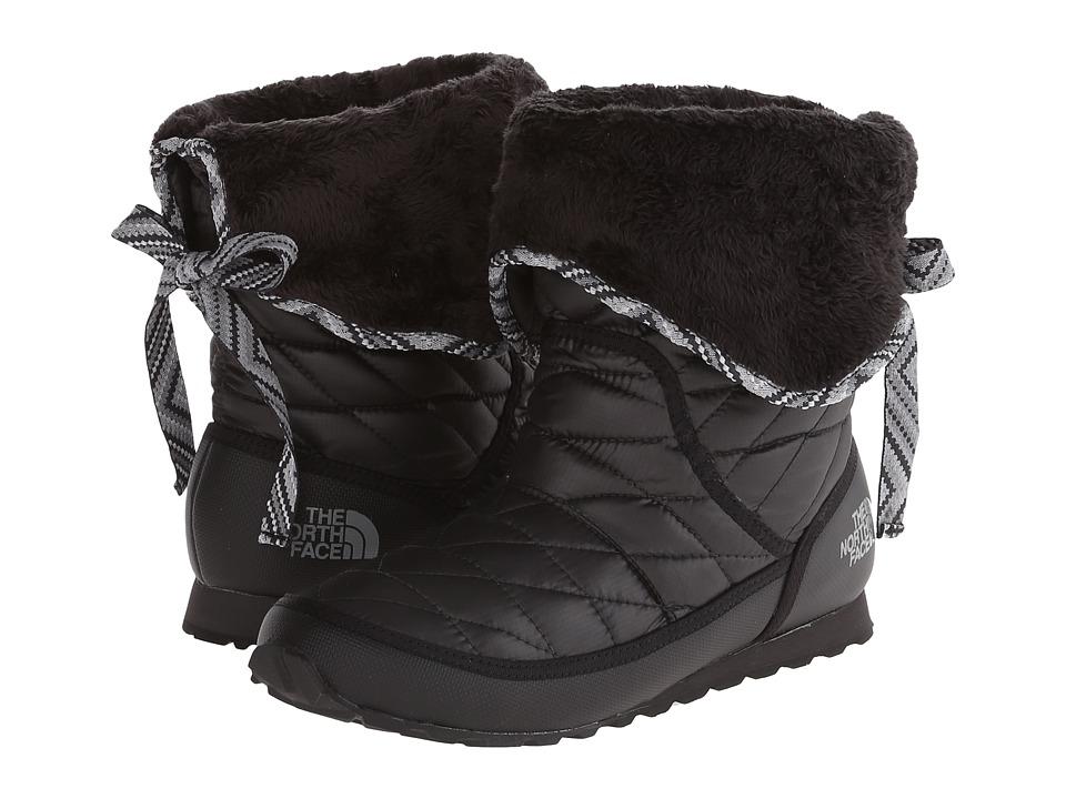 The North Face ThermoBalltm Roll-Down Bootie II (Shiny TNF Black/TNF Black (Prior Season)) Women