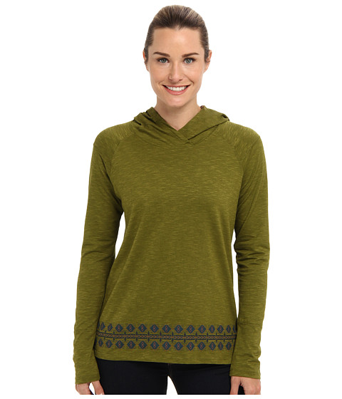 Toad&Co - Maisie Hoodie (Avocado Border Print) Women's Long Sleeve Pullover